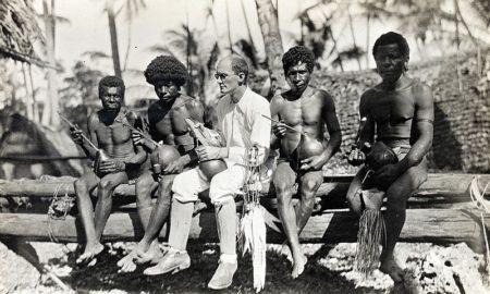 Бронислав Малиновский на островах Тробриан (ок.Папуа). 1918 г.